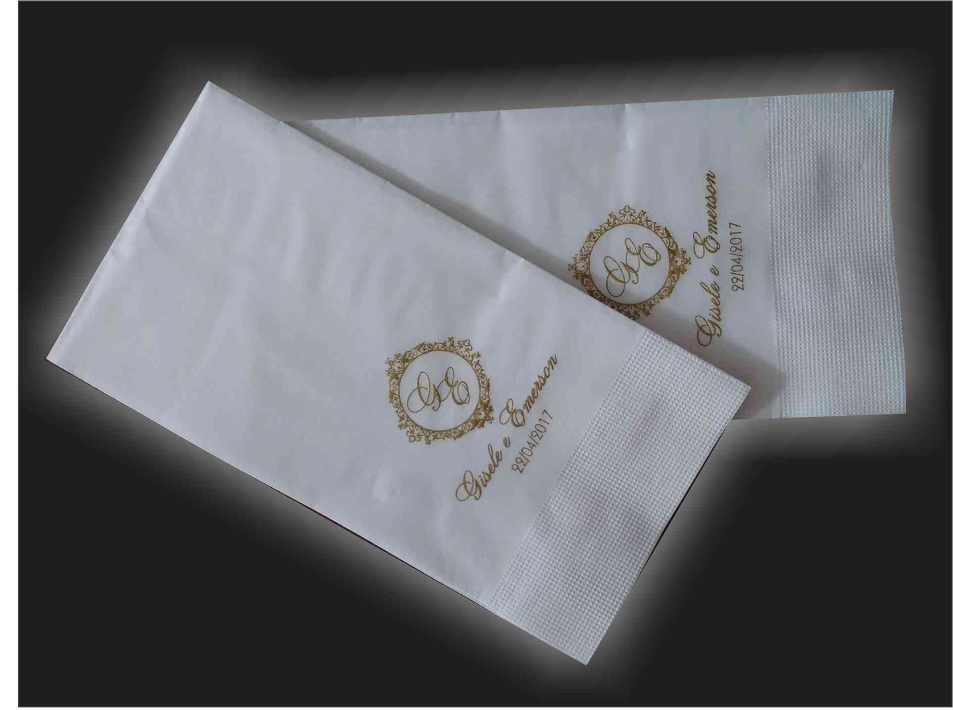 Guardanapo de papel mod. tradicional 40x40 cm Personalizado - 100 unidades  - Persona Guardanapos & Cia