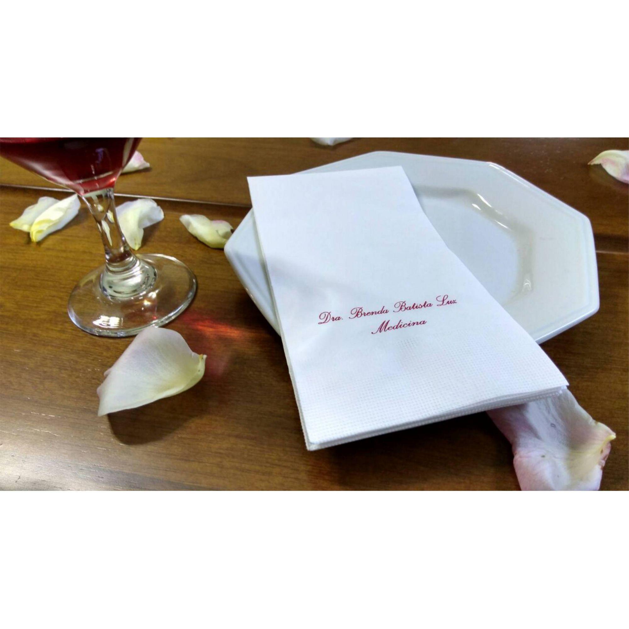 Guardanapo de papel mod. tradicional 40x40 cm Personalizado - 300 unidade  - Persona Guardanapos & Cia