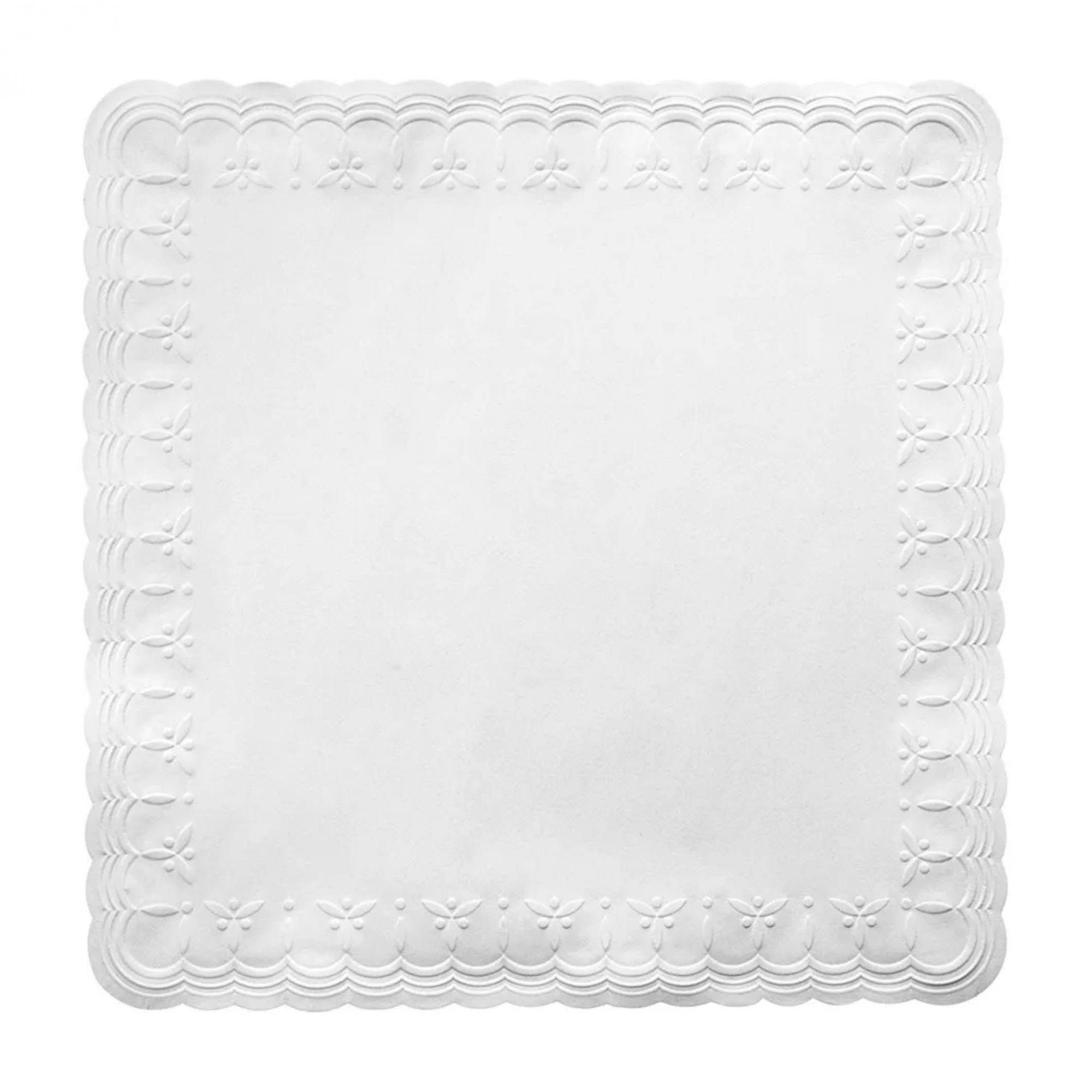 Guardanapo papel branco Trevo 24x24 - 100 unid  - Persona Guardanapos & Cia