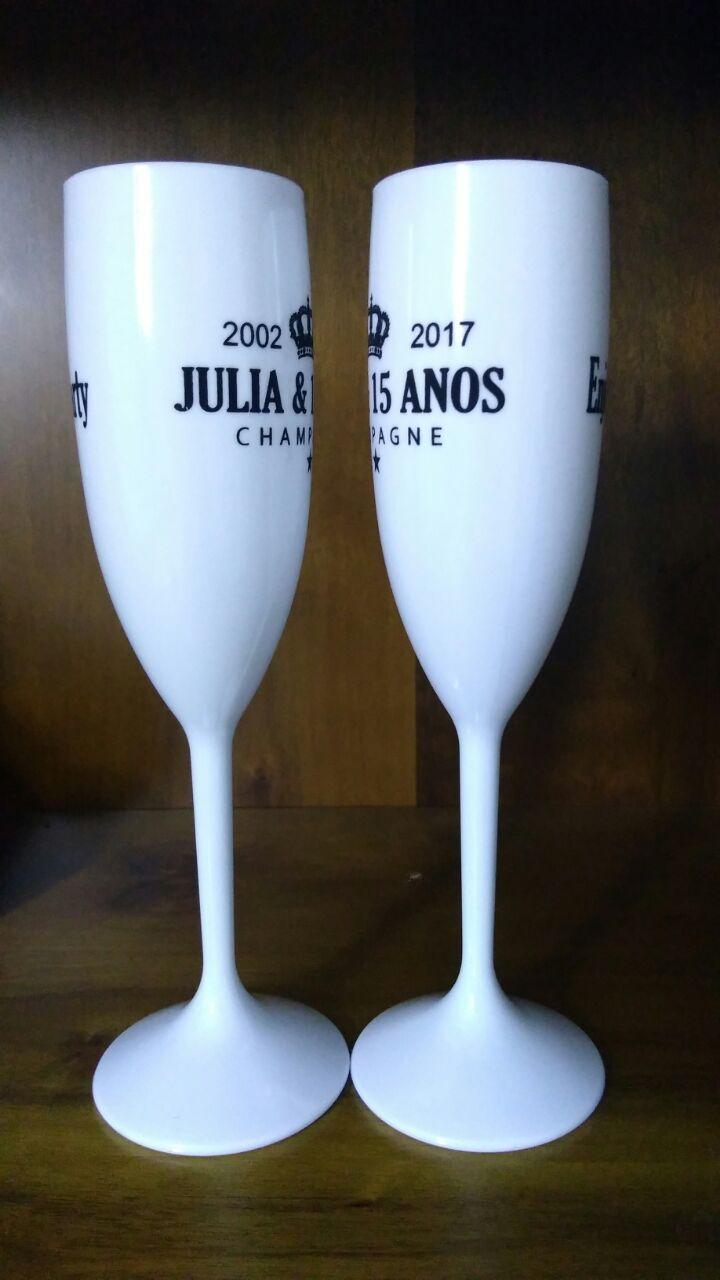 Taça acrílico 190ml personalizada 50 unid  - Persona Guardanapos & Cia