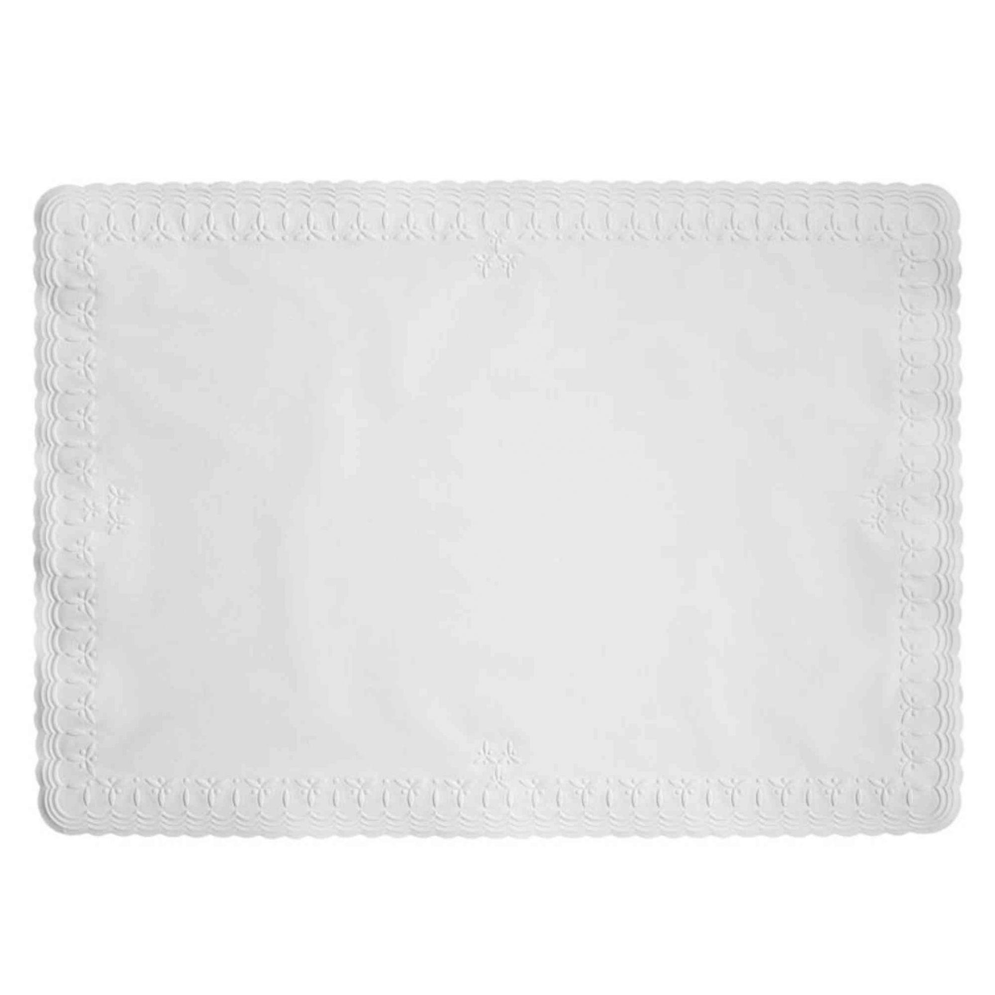 ab07f361ca3 Toalha de papel retangular para mesa posta / forro de bandeja Trevo 38x27  cm branco ...