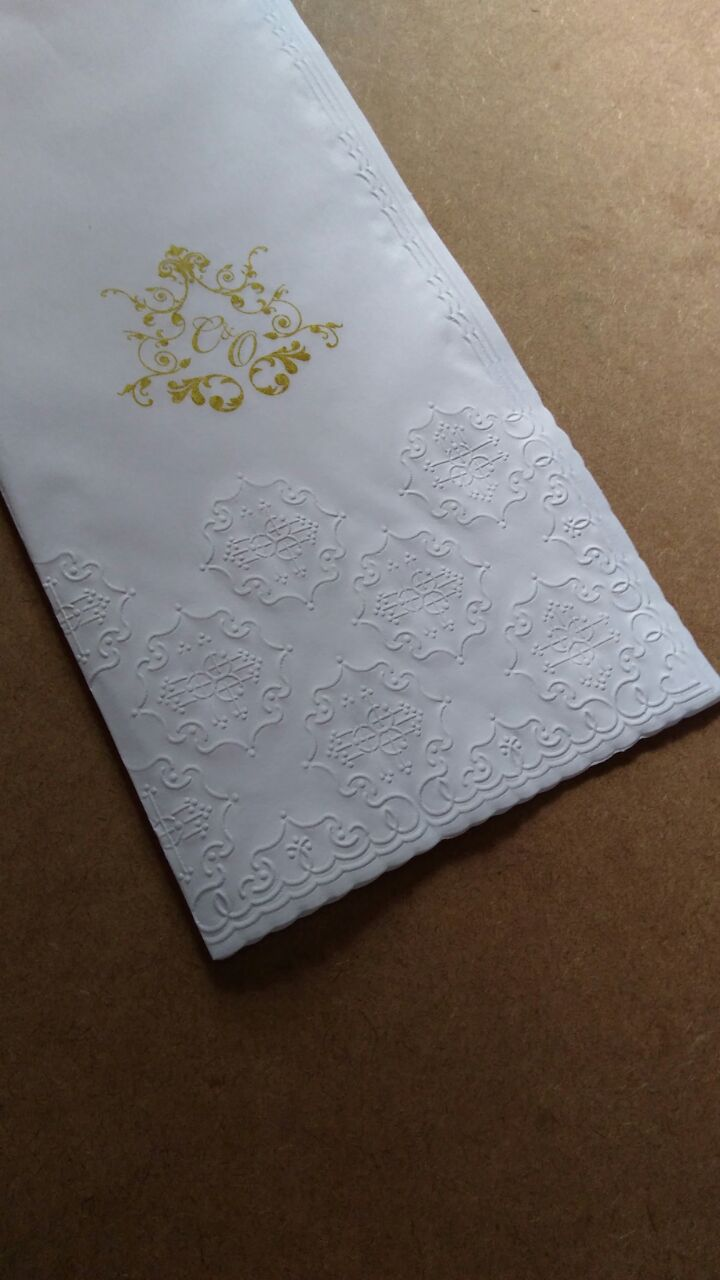Toalha papel para lavabo 29x34cm - personalizada  - 100 unidades  - Persona Guardanapos & Cia