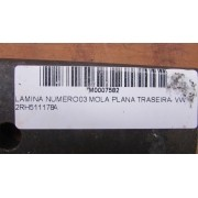 LAMINA NUMERO 03 MOLA PLANA TRASEIRA - VW 2RH511178A