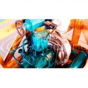 TURBINA A VAPOR EQUIPE (PRÓPRIA PARA BOMBA DE ÁGUA DE CALDEIRA) 21KGF/CM²  1 5 KGF/CM² NO ESCAPE  M
