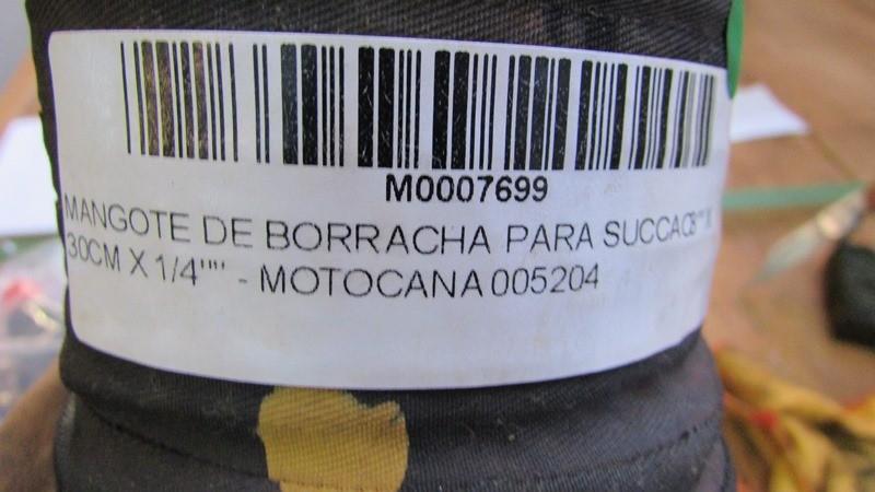 """MANGOTE DE BORRACHA PARA SUCCAO 3"""""""" X 30CM X 1/4"""""""" - MOTOCANA 005204"""