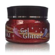 Gel Glitter Para Cabelo Vermelho 150g Colormake