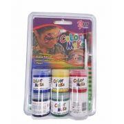 Kit Tinta Facial Líquida 6 cores básicas (Colormake)