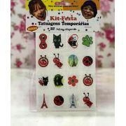 Tatuagens Temporárias 32 pçs - Ladybug