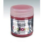 Tinta Liquida Metálica Vermelho 15ml Rostinho