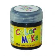 Tinta Liquida Preta 15ml Color Make