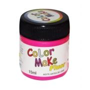 Tinta Líquida Rosa Flúor 15ml Color Make