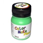 Tinta Líquida Verde Flúor 25ml Color Make