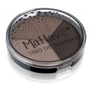 Trio de Sombras Mahav - Cor Cappuccino/ Grafite/ Chocolate