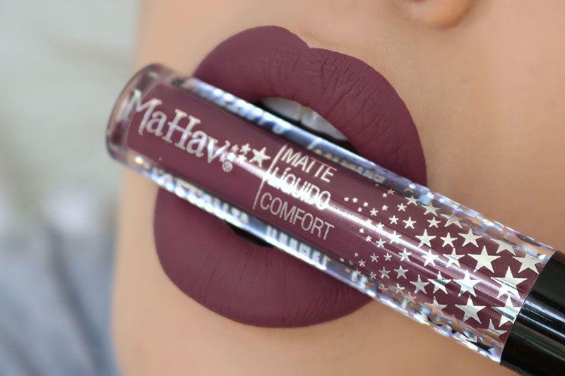 Batom Matte Líquido Comfort - Cor Rosa Púrpura