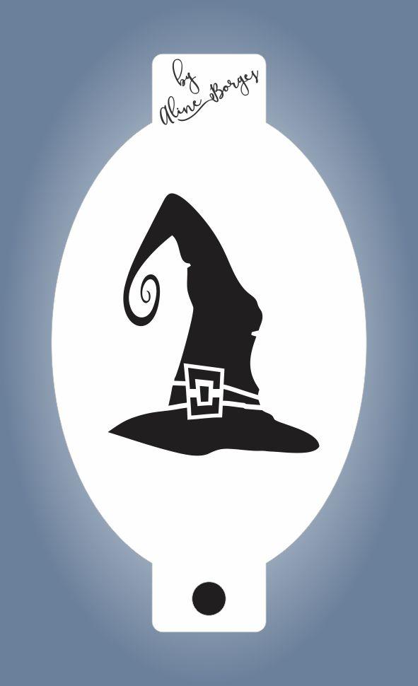 Stencil de Chapéu de Bruxa