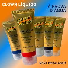 Clown Liquido Rostinho Pintado Prova D'Agua 40g