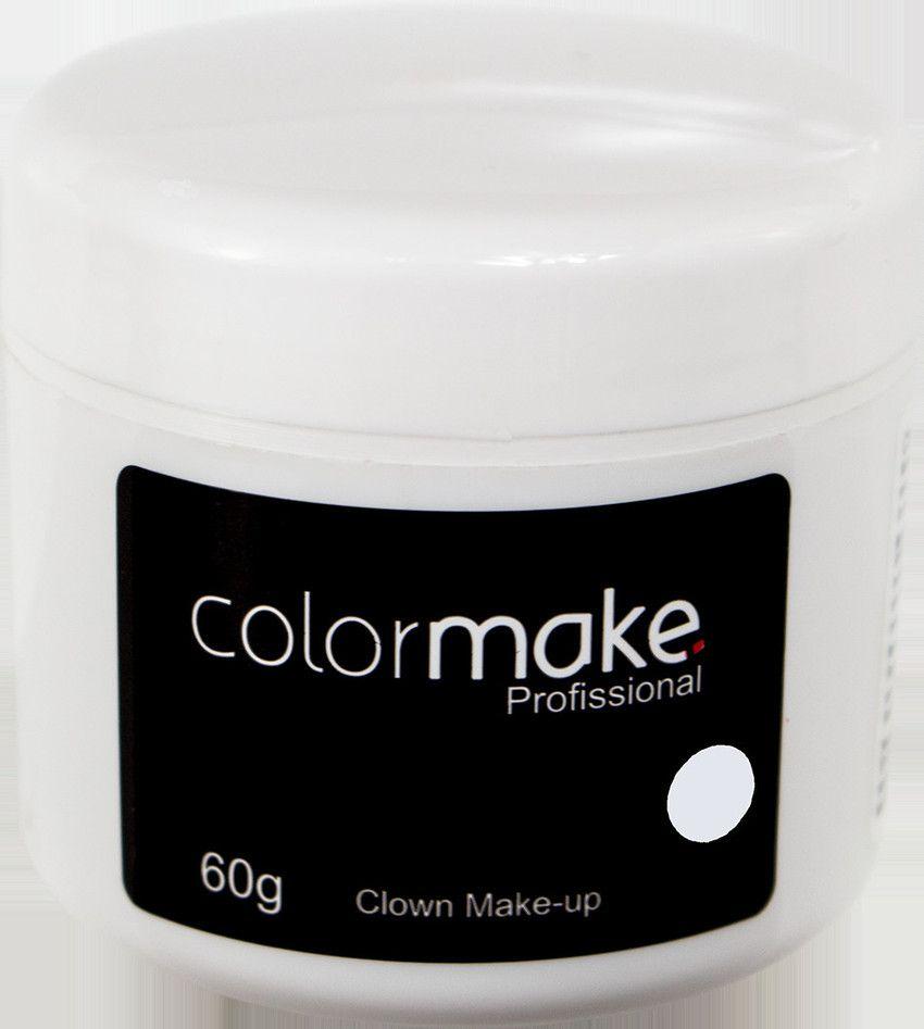 Clown Makeup Color Make Branco 60 GRAMAS