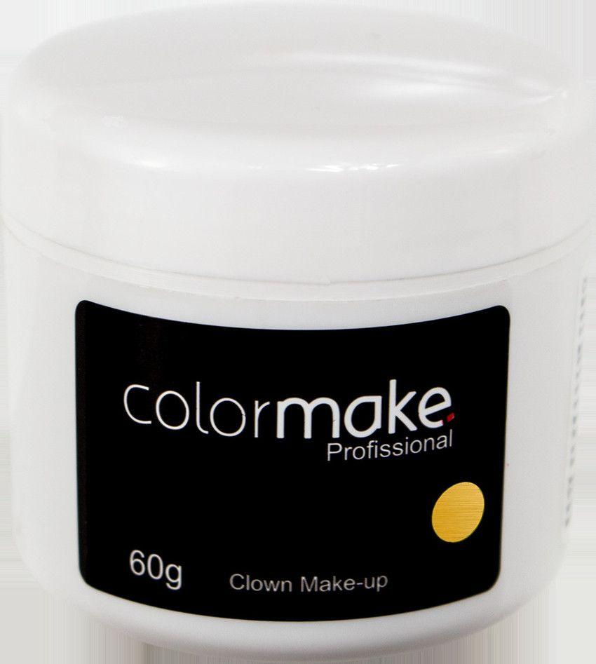 Clown Makeup Color Make Dourado 60 GRAMAS