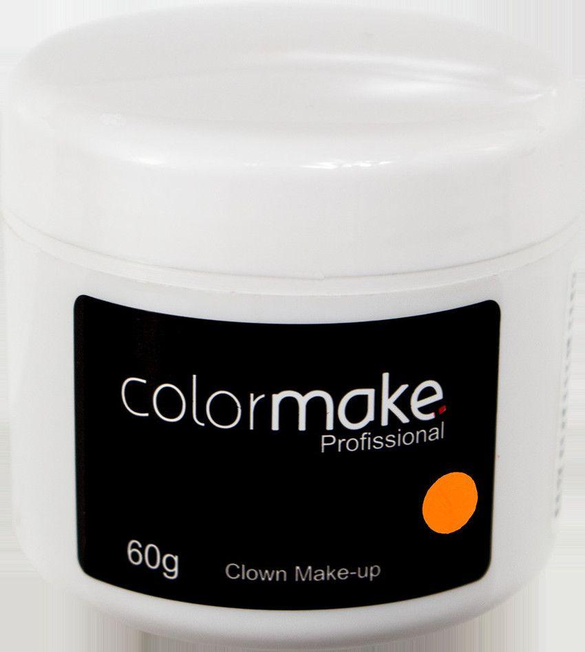 Clown Makeup Color Make Laranja 60 GRAMAS