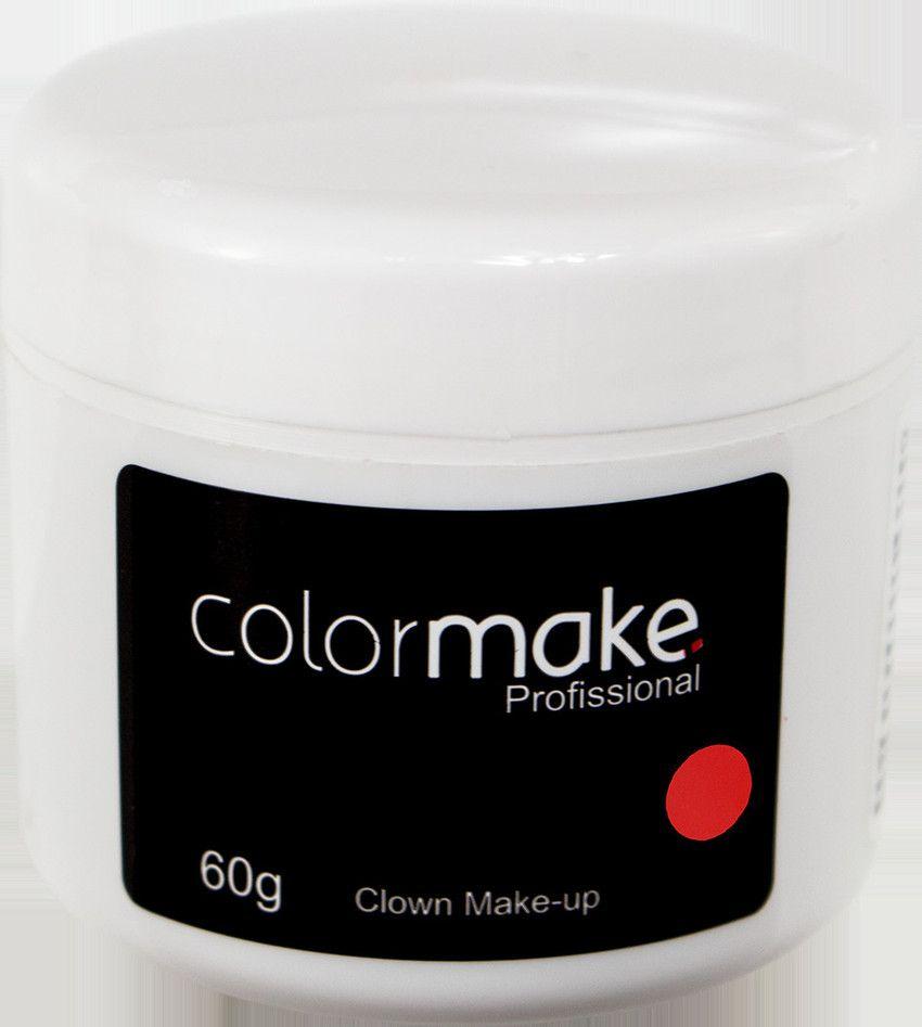 Clown Makeup Color Make Vermelho 60 GRAMAS