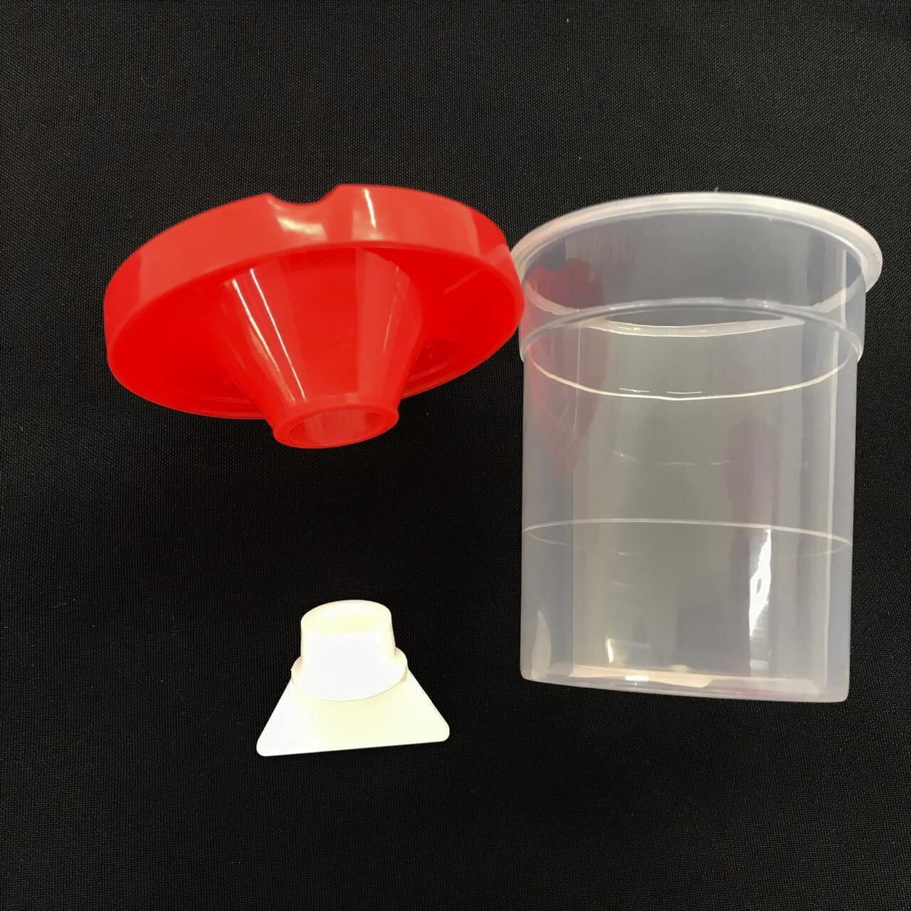 Copo de Lavar Pincel de Plástico com Tampa e Suporte