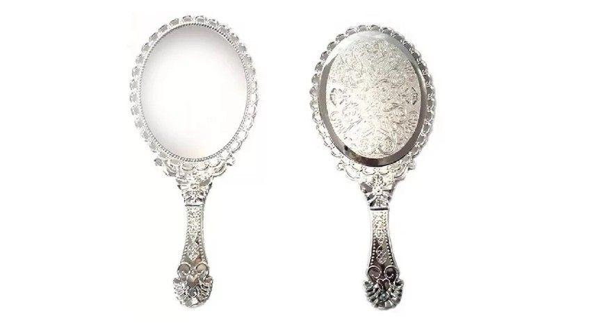 Espelho de Mão Estilo Provençal (Prata)