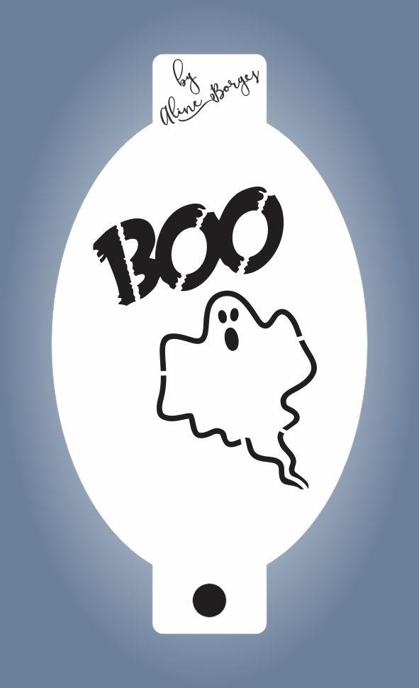 Stencil Fantasminha Boo