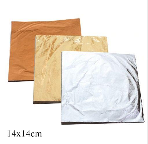 Folha De Ouro Pacote Com 10 Folhas 14x14 Cm