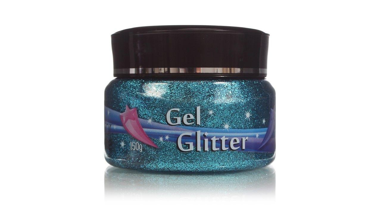 Gel Glitter Para Cabelo Azul 150g Colormake