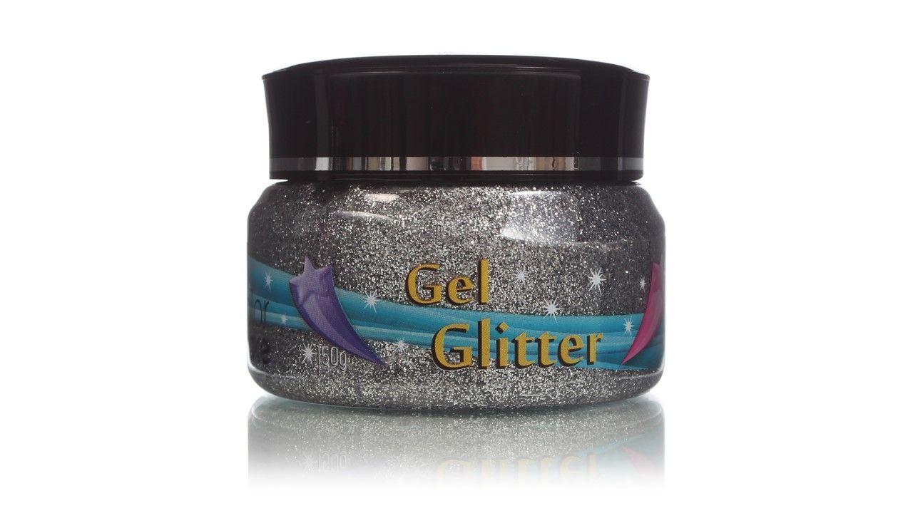 Gel Glitter Para Cabelo Prata 150g Colormake
