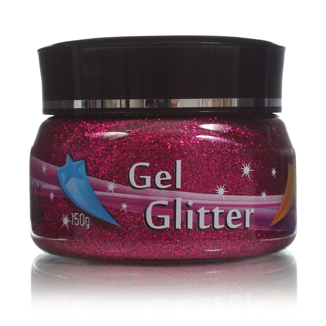 Gel Glitter Para Cabelo Rosa/Pink 150g Colormake