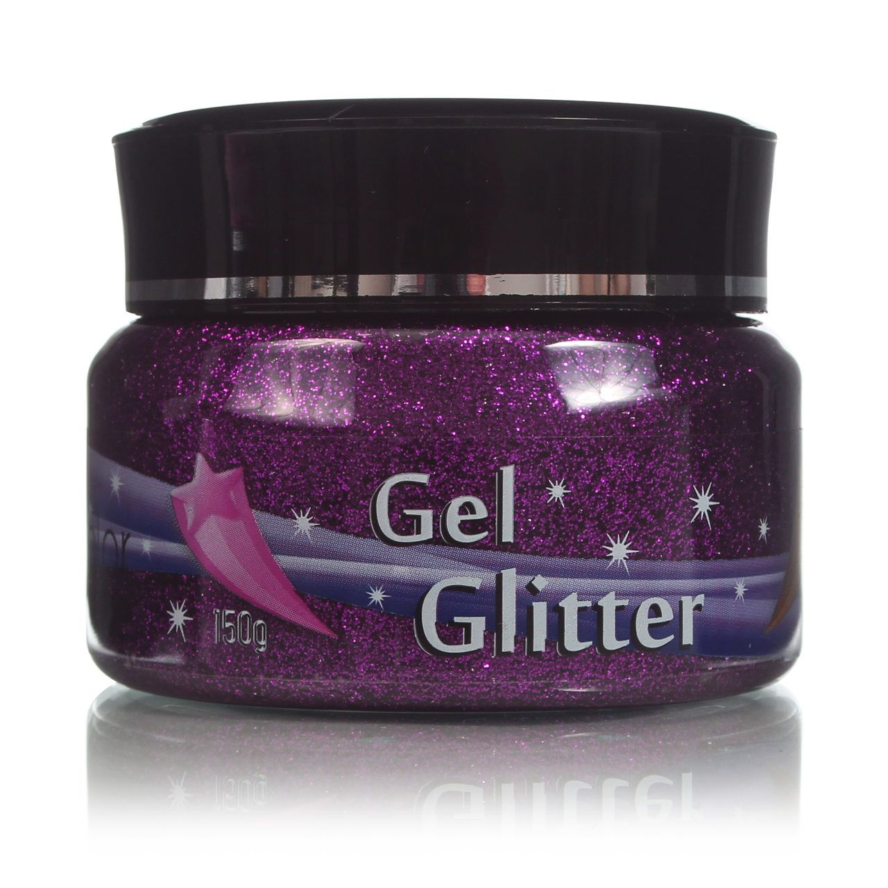 Gel Glitter Para Cabelo Roxo 150g Colormake