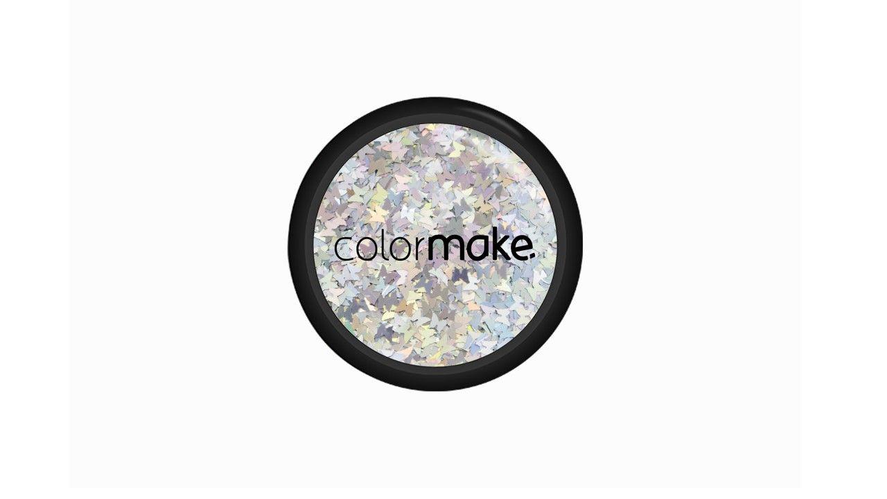 Glitter Borboleta Prata Holográfico 2g