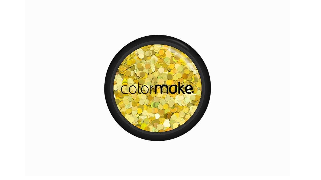 Glitter Ponto Dourado Holográfico 2g
