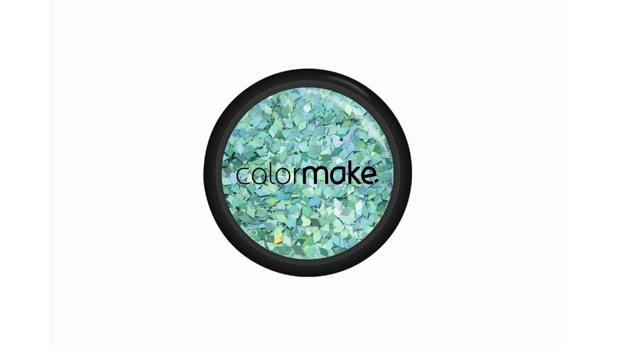 Glitter Diamante Azul Claro / Turquesa Holográfico mix