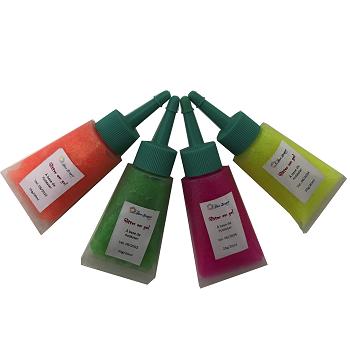Glitter Gel Fluor (neon) 20ml com bico aplicador