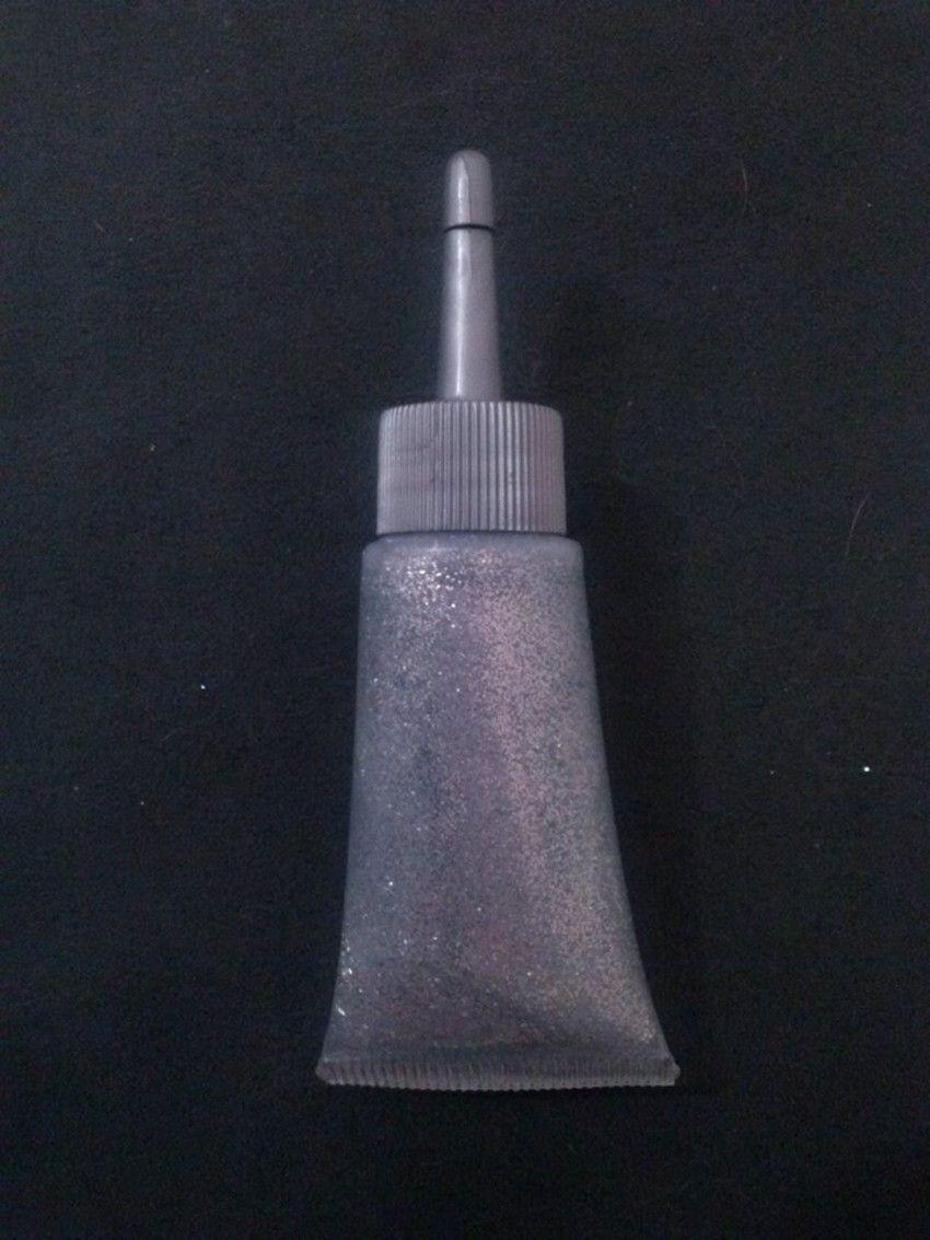 Glitter gel prata - 20ml com bico aplicador