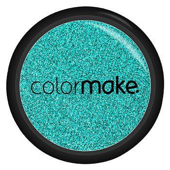 Glitter Shine em Pó Color Make Azul Turquesa