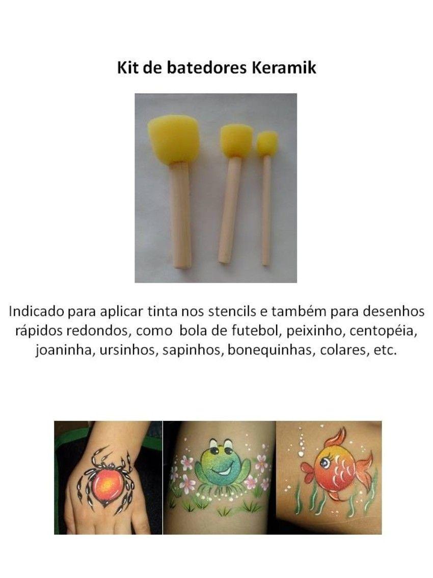 Kit c/ 3 batedores Keramik