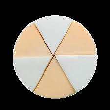 Kit c/ 8 Esponjas emborrachadas em Formato Triangulo (Queijinho)