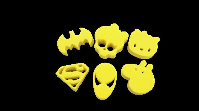 Kit de carimbos p/ pintura facial Coleção amarela