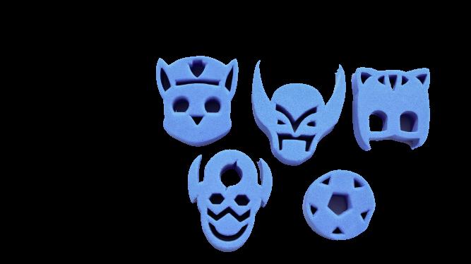 Kit de carimbos p/ pintura facial Coleção Azul