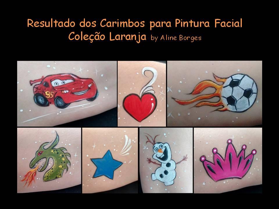 Kit de Carimbos p/ pintura facial Coleção Laranja