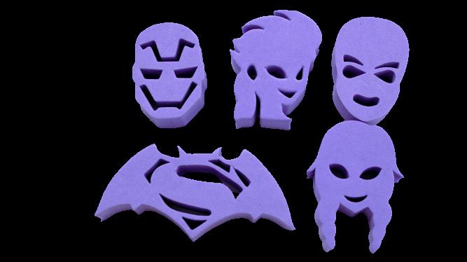 Kit de Carimbos p/ pintura facial Coleção Lilás