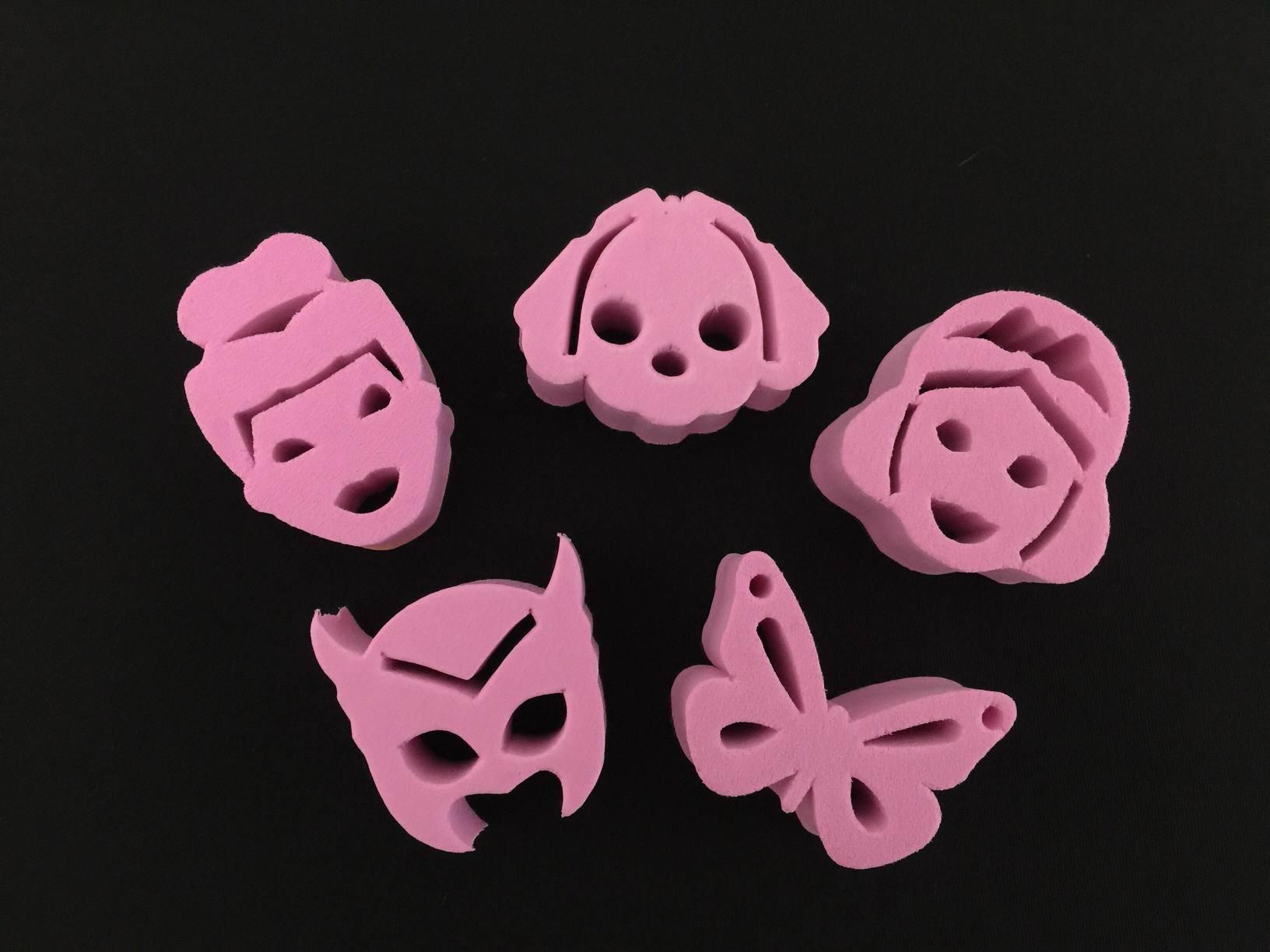 Kit de carimbos p/ pintura facial Coleção Rosa