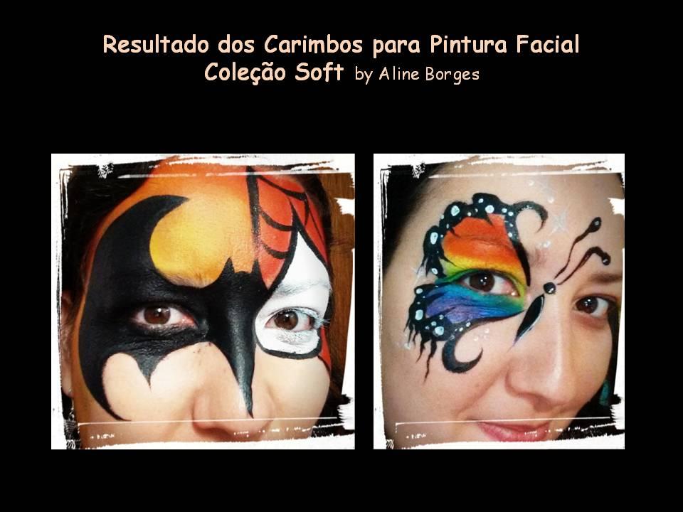 Kit de Carimbos p/ pintura facial Coleção Soft