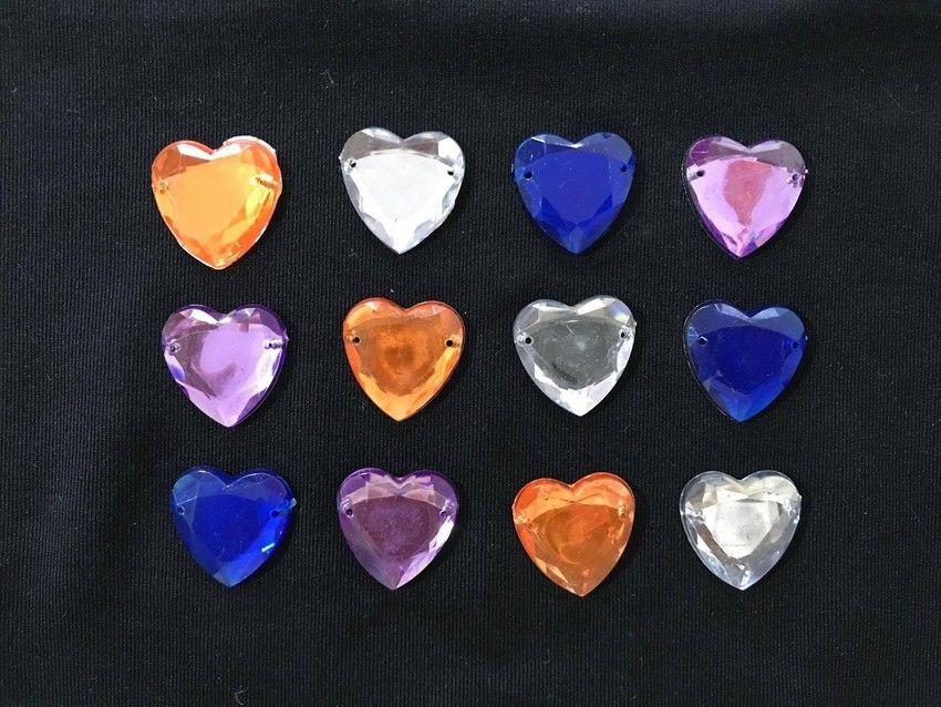 Kit de Pedrinhas Sem Adesivo - Coração