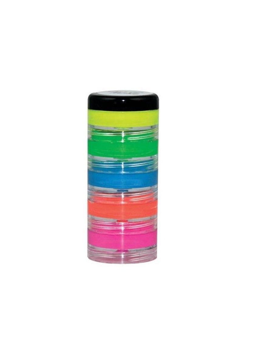 Kit Tinta Facial Cremosa Flúor 5 cores Color Make