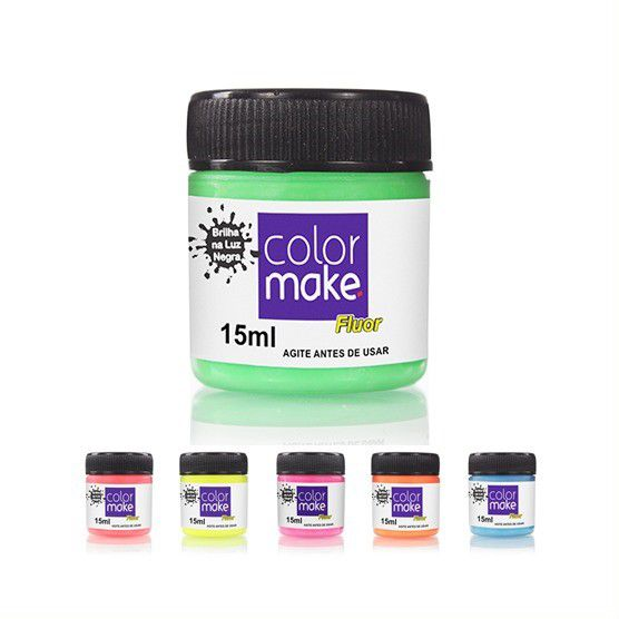 Kit Tinta Líquida Flúor 15ml Colormake (Todas as cores)