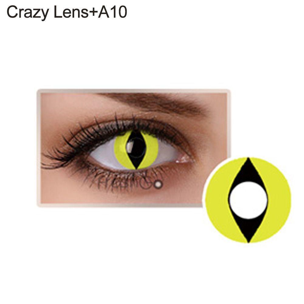 Lente de contato amarela - olho de gato (A10)